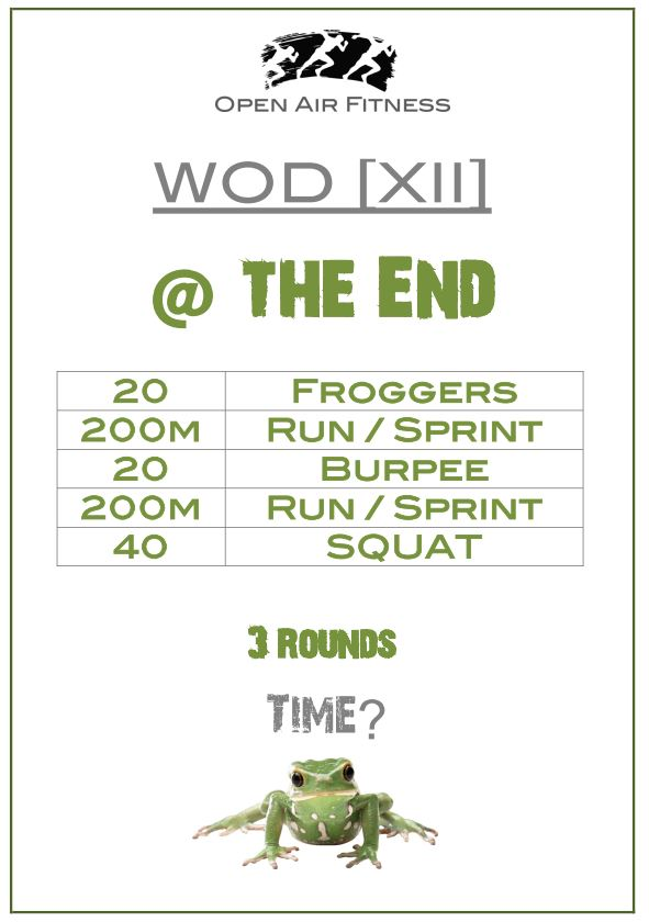 WOD XII at the end